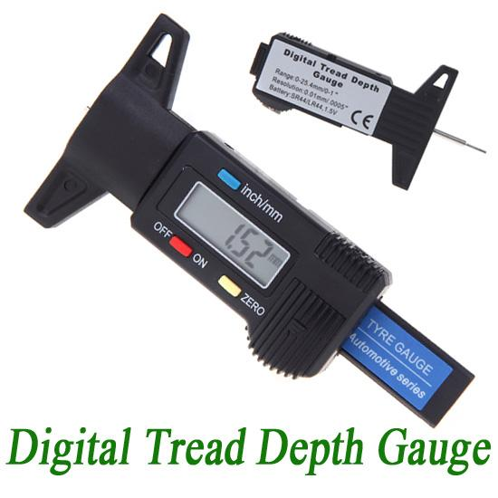 how to use a tyre depth gauge