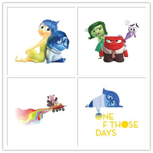 Cartoon Inside Out Riley Diy Vinyl Wall Stickers For Kids Rooms ...