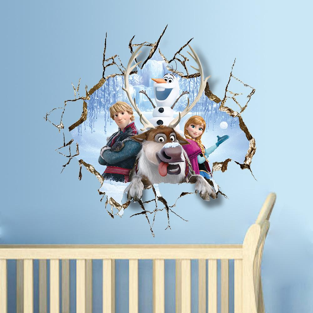 3d stickers wall wall murals ideas wholesale 3d frozen wall stickers wall sticker removable and amipublicfo Gallery