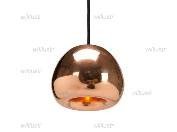 tom dixon void pendant lamp void light copper brass. Black Bedroom Furniture Sets. Home Design Ideas