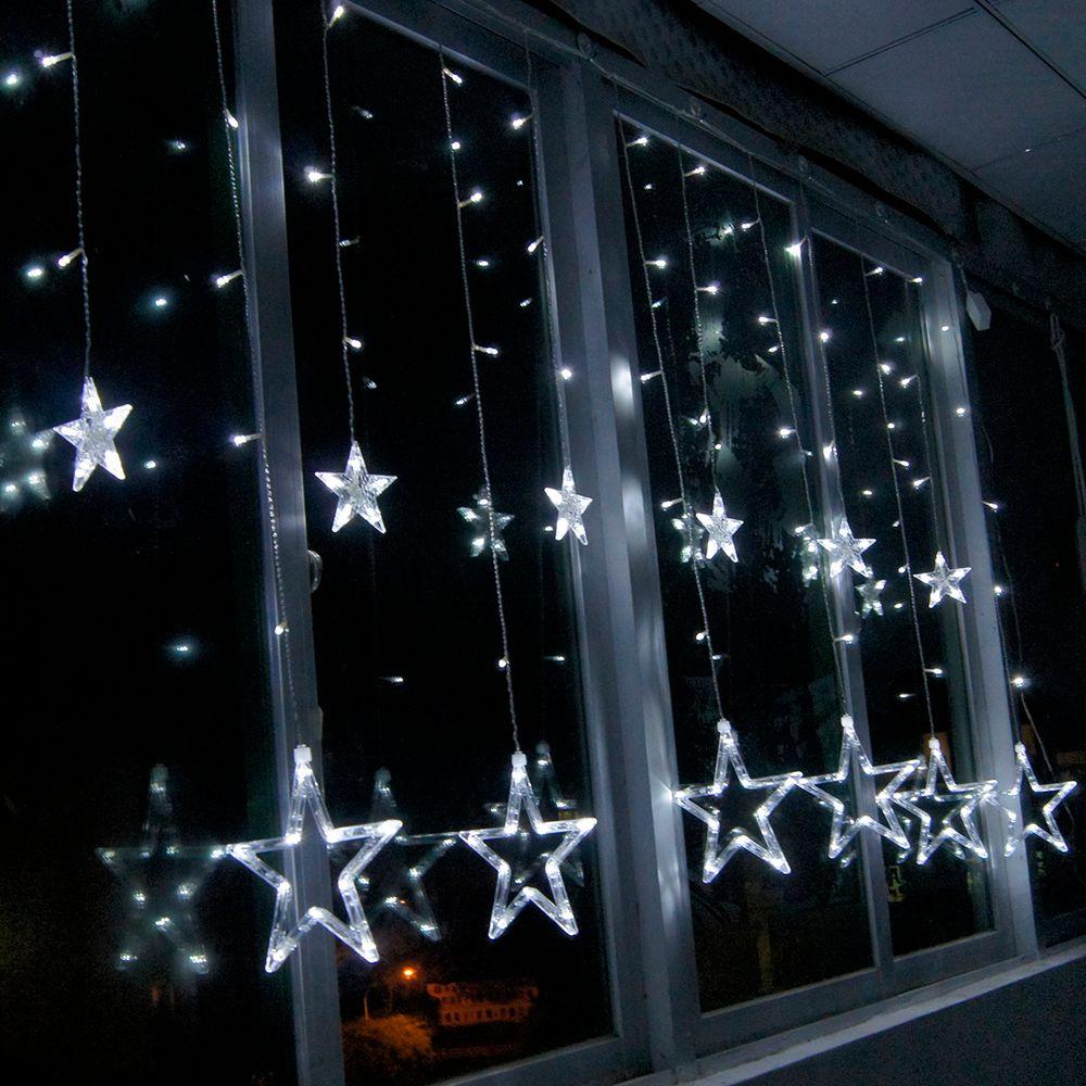 M leds v led star shaped curtain