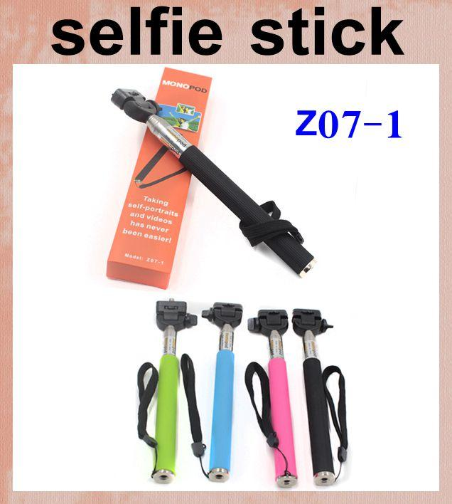 2017 selfie stick z07 1 adjustable selfie monopod without holder for digital. Black Bedroom Furniture Sets. Home Design Ideas