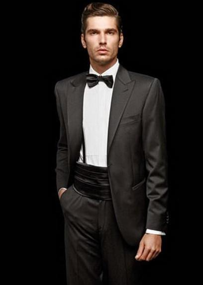 2015 Menwedding Suit Black Slim Fit Suit Top Selling Wedding ...