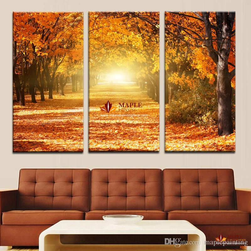 Hot sell canvas art wall decor painting beauty autumn for Decor 2 sell