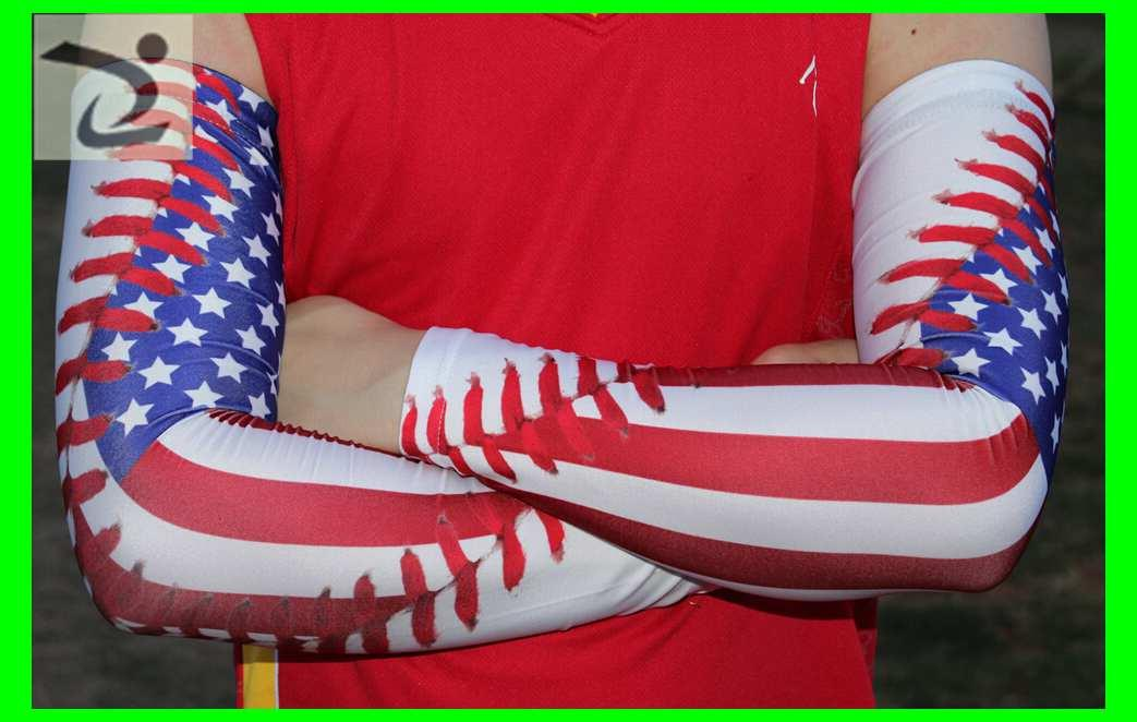 Digital camo arm sleeve baseball lace usa american flag arm sleeves