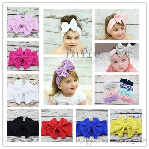 Girls Bow Headband Bunny Bow Knot Hairband Vintage Butterfly Girl Mom Parents Tie Hairband Baby New Head Wear kiki headband