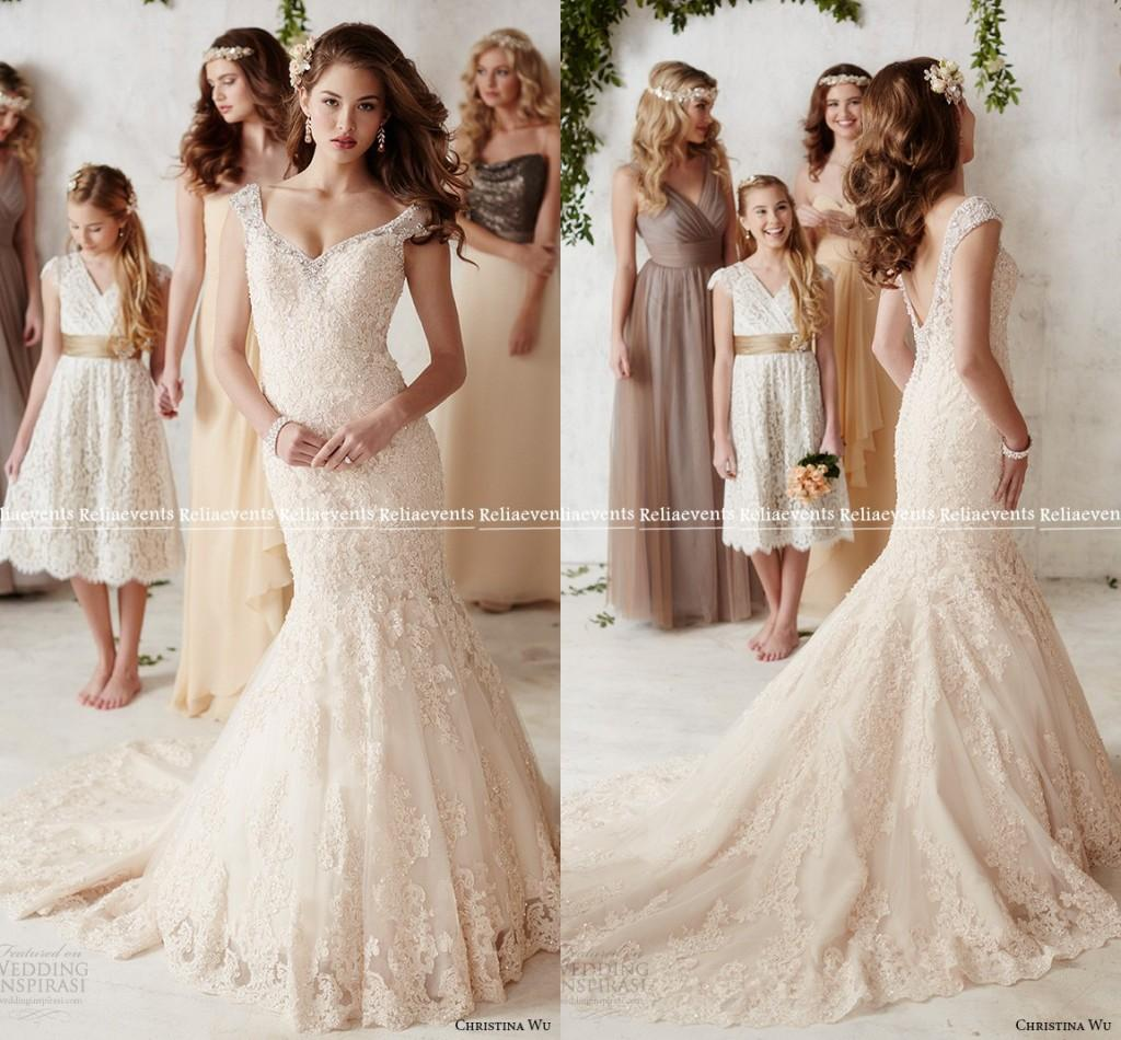 2016 backless mermaid wedding dresses vintage off the for Vintage backless wedding dresses
