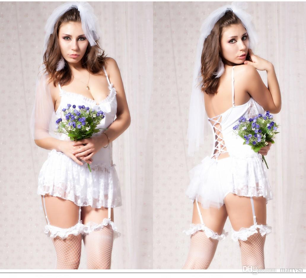 Wedding Bridal Undergarments 2015 hot sexy bridal lingerie white lace wedding accessories undergarments sets with garters high quality undergarments