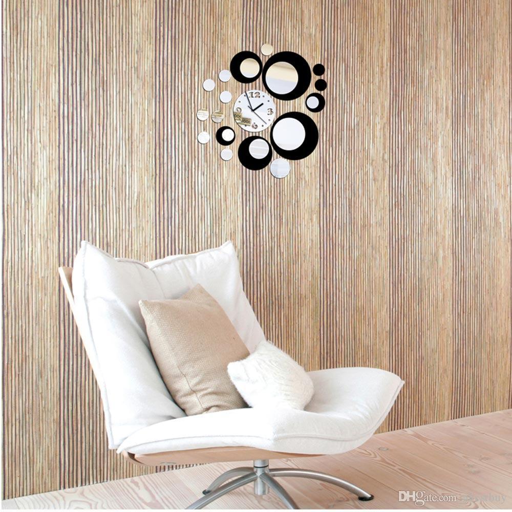 Bricolage noir rouge mur sticke autocollants 3d crystal effet de ...