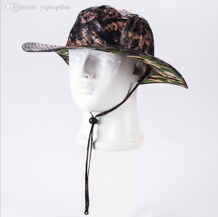 Wholesale mens womens wide brim sun camouflage military for Wide brim fishing hat