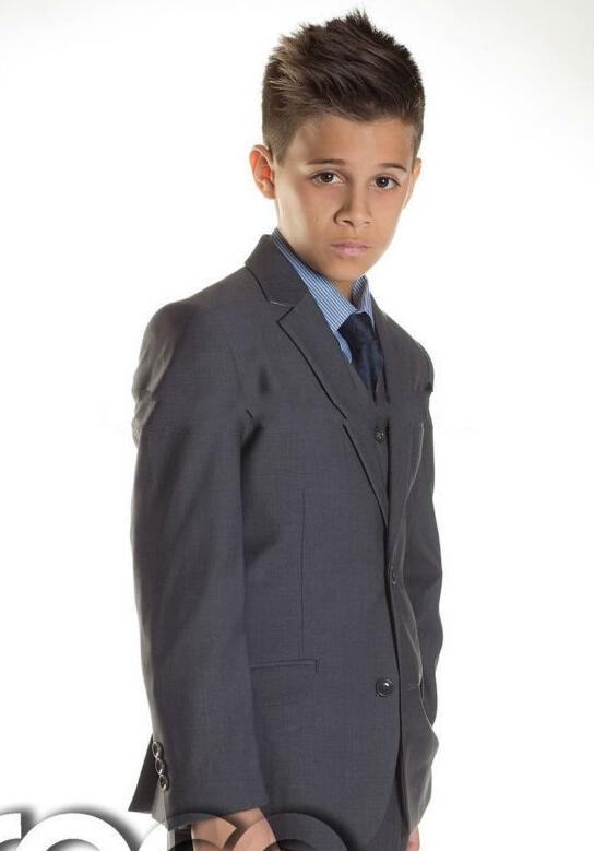 2015 New Handsome Black Slim Fit Boys Suits Boys Suit Wedding ...