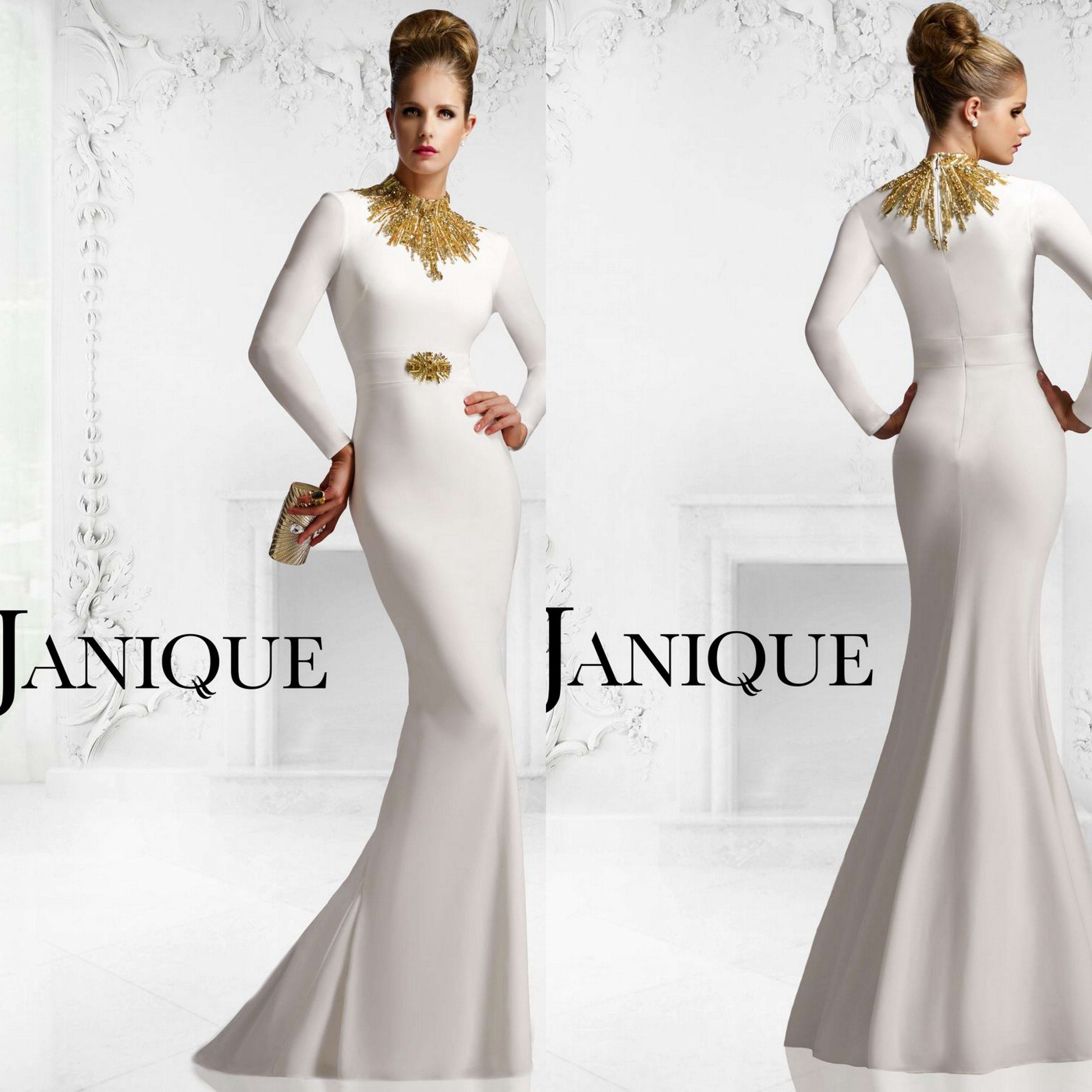 Celebrity Style Long Prom Dress Ivory Wedding Dresses With