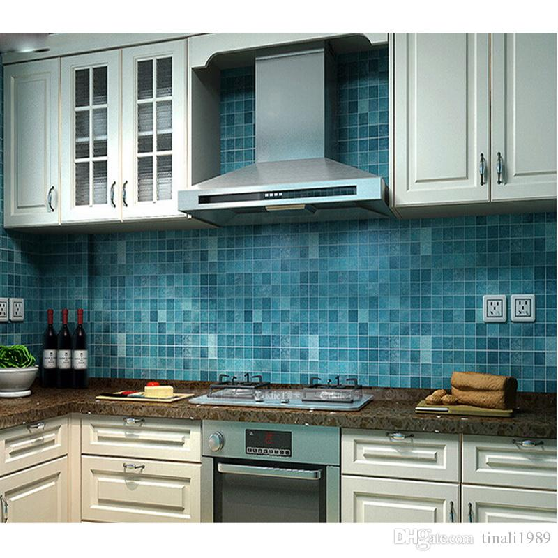 Great Bathroom Waterproof Wall Sticker PVC Mosaic Tile Wallpaper Kitchen Walls  Paper Oil Proof Stickers Self Adhesive Wallpapers 3d Wall Sticker Bathroom  Tile ...