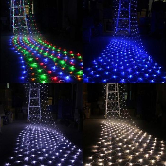 Led net light 220v 2m 3m 210leds string net light for Decorative patio lights
