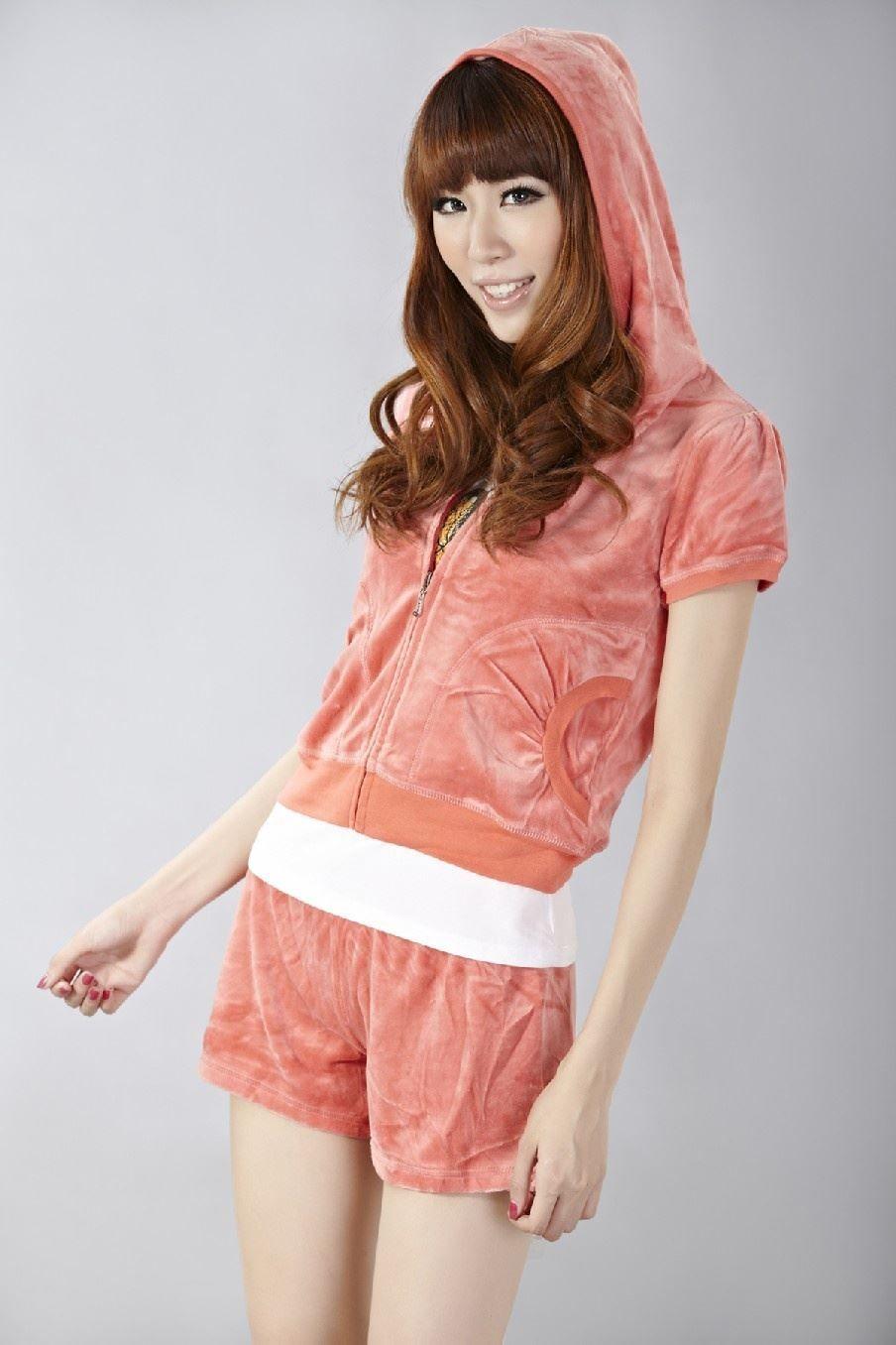 Wholesale - 5sets/lot Pink Velour Hoodie Tracksuits Short Sleeved Top & Pants Sweatsuit Summer Shortie Sets Jogging Suits Brand For Women