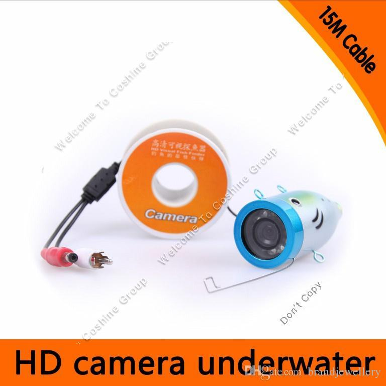 15m waterproof underwater fishfinder ocean/ice fishing finder led, Fish Finder