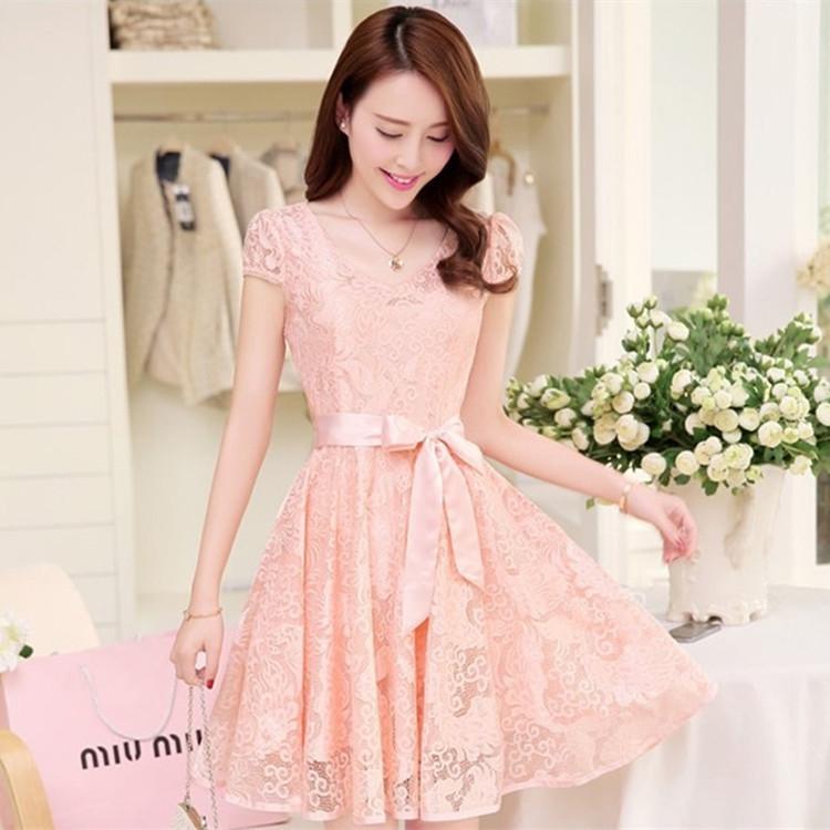 2017 Korean Women Summer Chiffon Dress Plus Size Long Summer ...