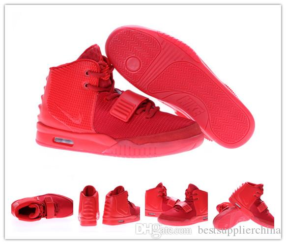 Womens Air Yeezys Red Black shoes