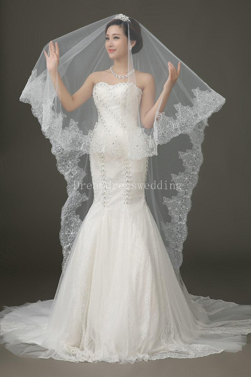 Fashion Cheap Bridal Veils Long Veils Soft Tulle Long Veil With Veils White Veils For Wedding