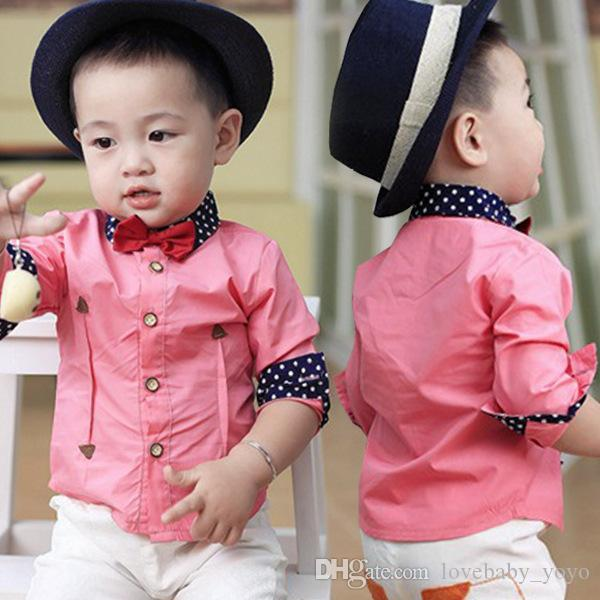 Pink Dress Shirt With Bow Tie images