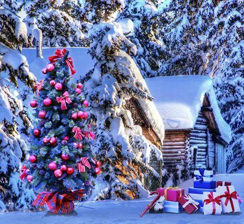 2017 5x7ft Merry Christmas Snow Vinyl Backdrop Photography