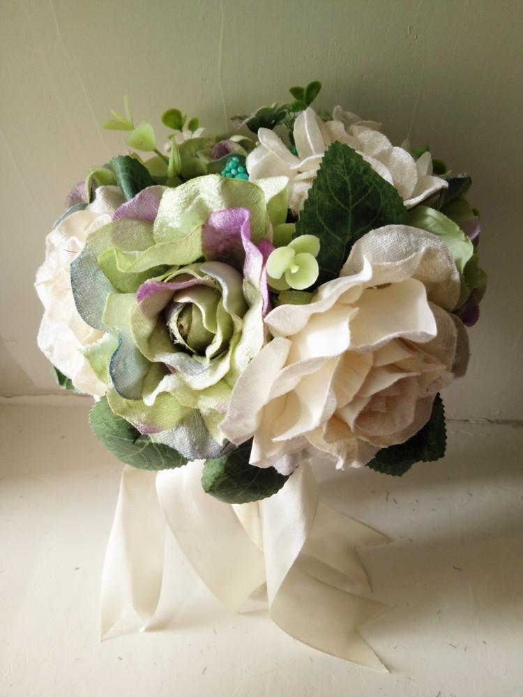Custom Free Shpping Wedding Party Bride Bouquet Flower Wedding Supply Cheap Bridal Holding
