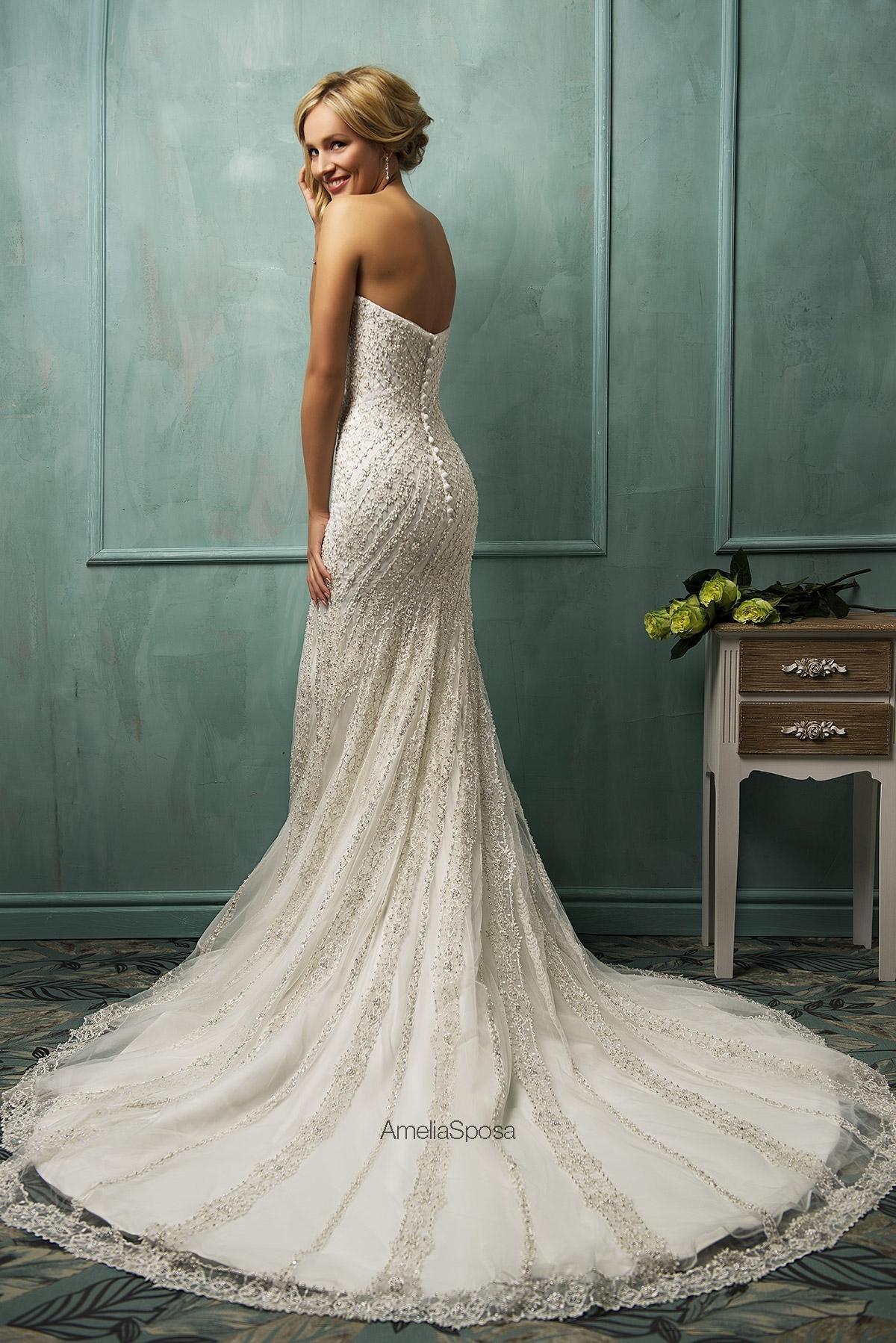 Inspired 2014 Mermaid Elegant Wedding Dress Appliqued