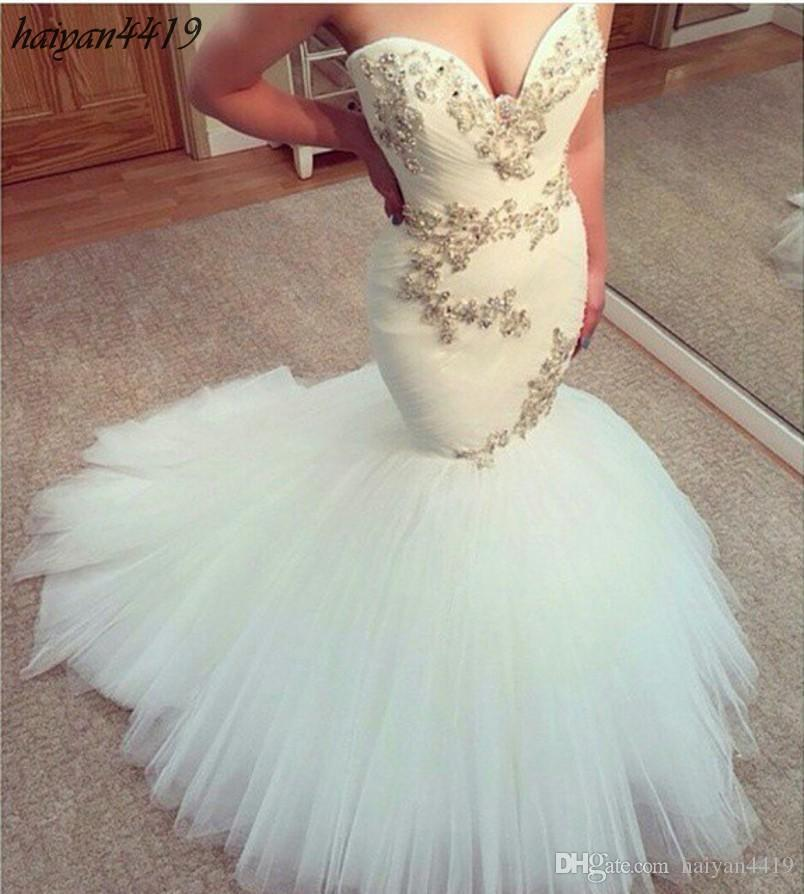2016 New Arrival Wedding Dresses Long Mermaid Sweetheart