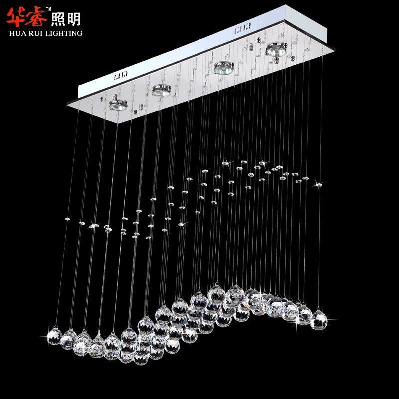 Modern Spiral Chandelier Lamps Led Wave Crystal GU10 Pendant Light ...