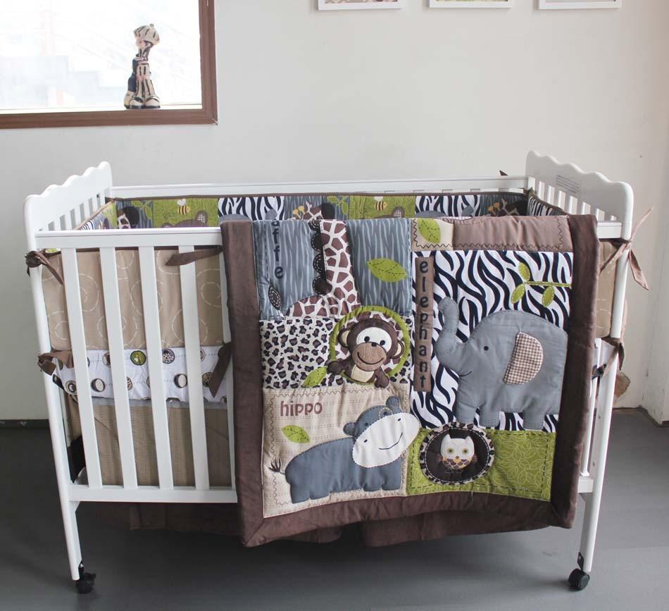 Crib for sale mandaluyong - Boy Crib Bedding Set Baby Quilt Embroidery 3d Cartoon Animal Bear Giraffe Owl Pure Cotton Comfortable Baby Bedding Set Children Bedding Set Twin Bedding Set