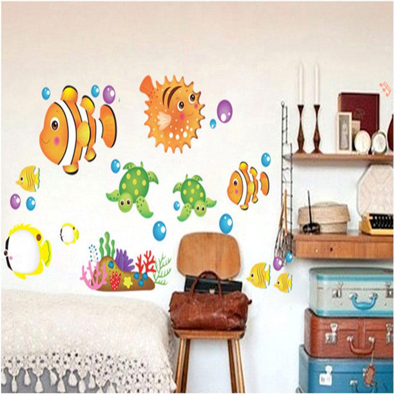 finding nemo 2015 New Dolphin Vinyl Wall Decals Children Kids Room Wall  Stickers Bathroom Decoration Door Decor window Stickers