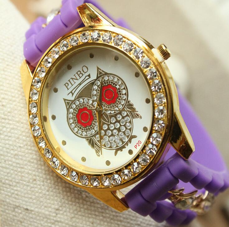 mens silicone chain watches fashion diamond watch luxury mens silicone chain watches fashion diamond watch luxury watches for women owl style watches gold