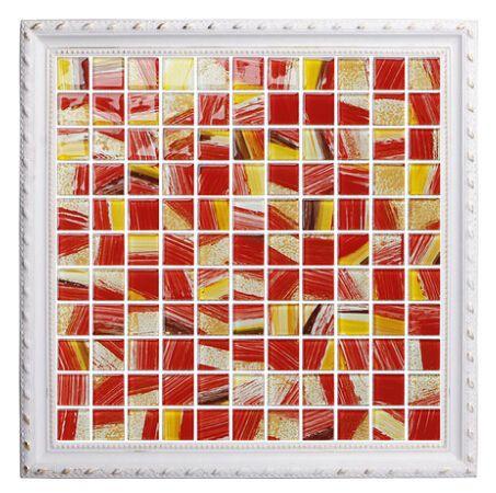 Best Best Seller Red Crystal Glass Mosaic Tile Kitchen Backsplash Painted Cos