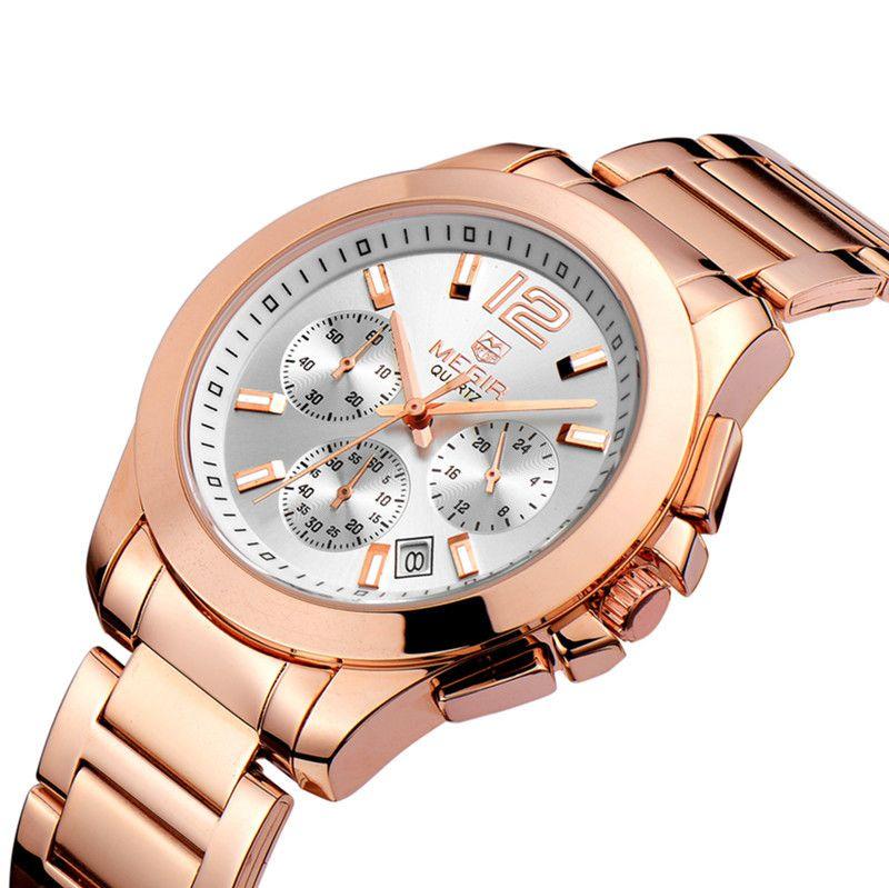 top megir gold watch men luxury brand stainless steel quartz see larger image