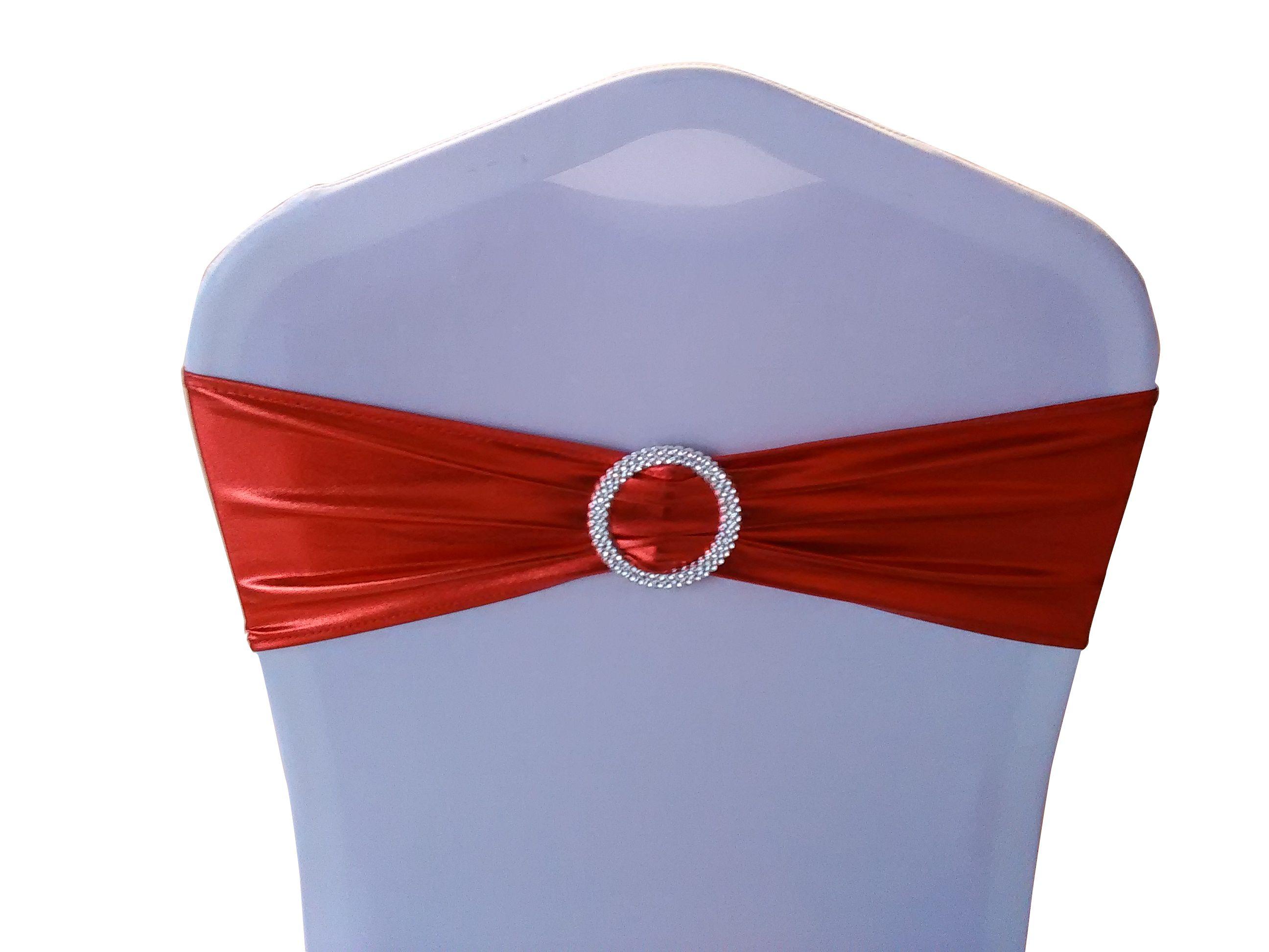 HOT SALE Shiny Metallic Red Lycra Sash Lycra Band Shiny Ribbon