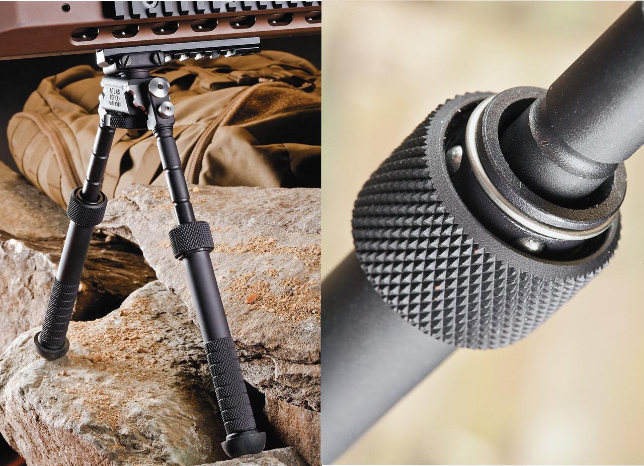 BT10-LW17 V8 Aluminum Black Atlas 360 degrees Adjustable Precision Bipod ADM QD Mount For Rafile Hunting Mount