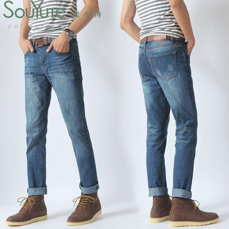 New 2016 New Style Men's Jeans Fashion Washing Slim Straight Jeans ...