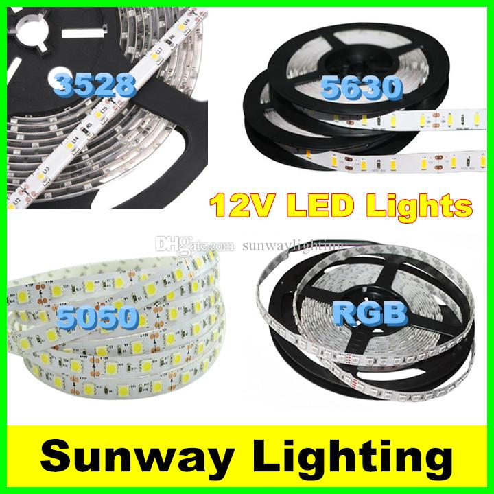 High Bright LED Strips 5M 300LED SMD 5630 5050 3528 Flexible LED Strip Lights im