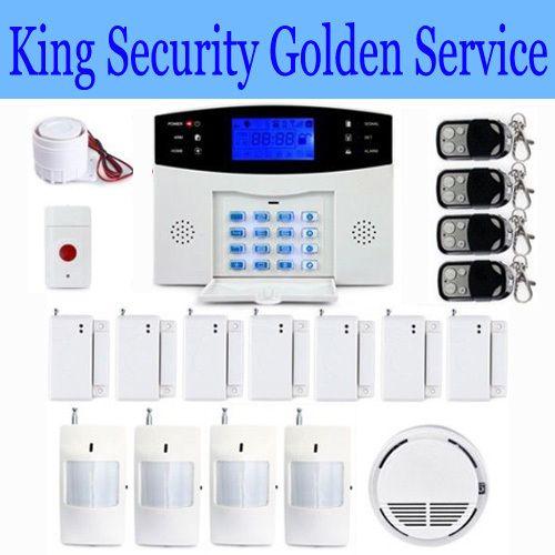 wireless home gsm sms call burglar alarm system smoke panic sos button panic for garage storage. Black Bedroom Furniture Sets. Home Design Ideas