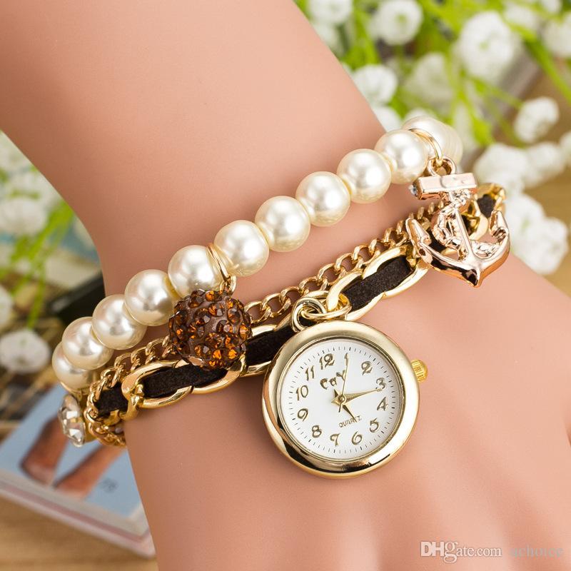 Pearl Bracelet Watch uk Lady Pearl Bracelet Watch