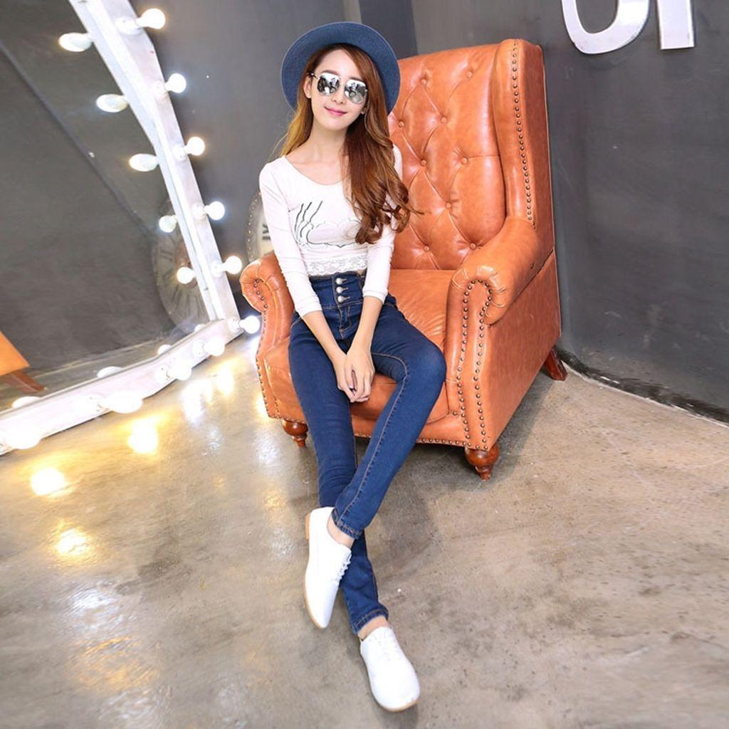2017 2016 Women'S Fashion Casual Jeans Waist Jeans Pants ...