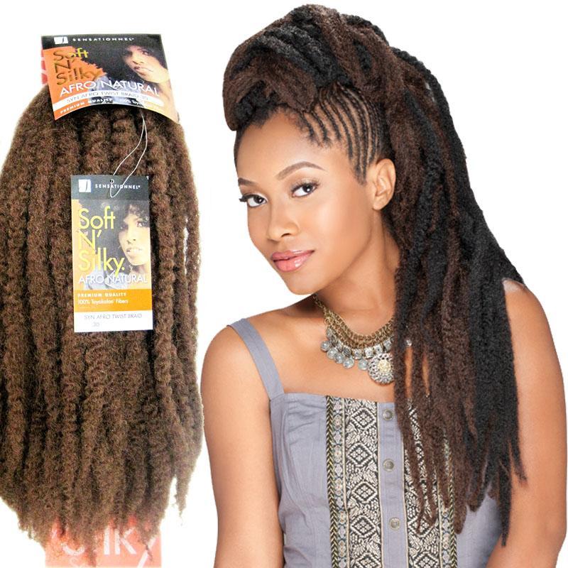 Marley Twist Braid Kanekalon Fiber Afro Kinky Braid Braiding Hair ...