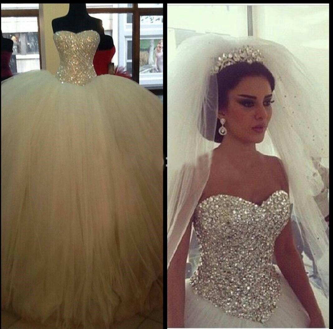 Sparkly Sequined Crystal Ball Gowns Wedding Dresses 2016 Luxurious ...
