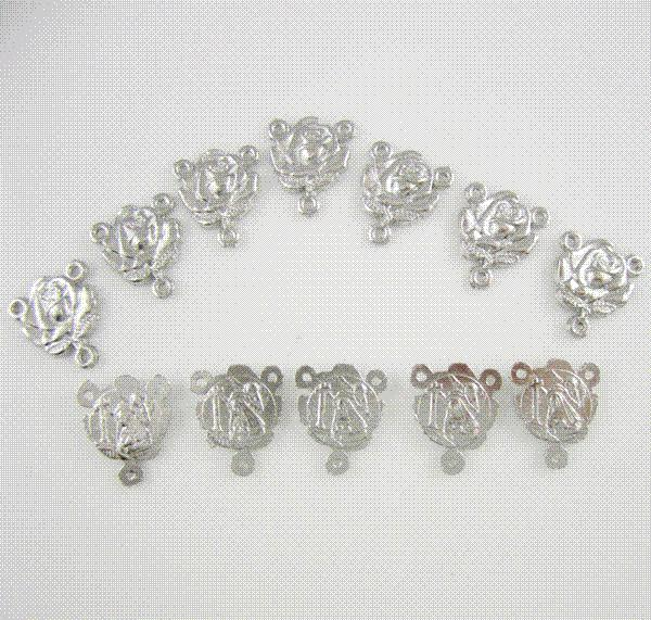 Wholesale religious metal rose medal rosary parts center