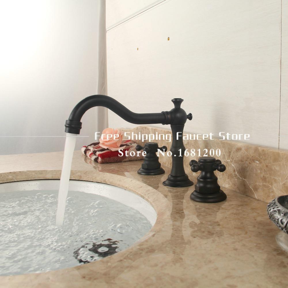 black finish bathroom faucets