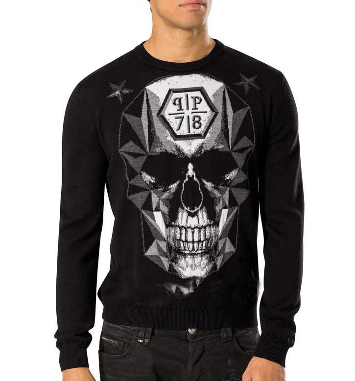 2016 New sweater male skull digital printing M T fashion sweater