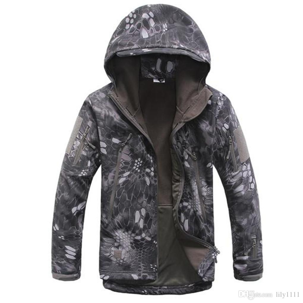 Free Shipping Good Quality TAD GEAR SPECTRE Soft SHELL Jacket Outdoor Military Tactical Waterproof Windproof Tech Jackets 17 color XS-3XL