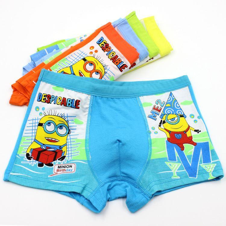 2017 Boys Underwear Panties Despicable Me Minion Children Pants ...