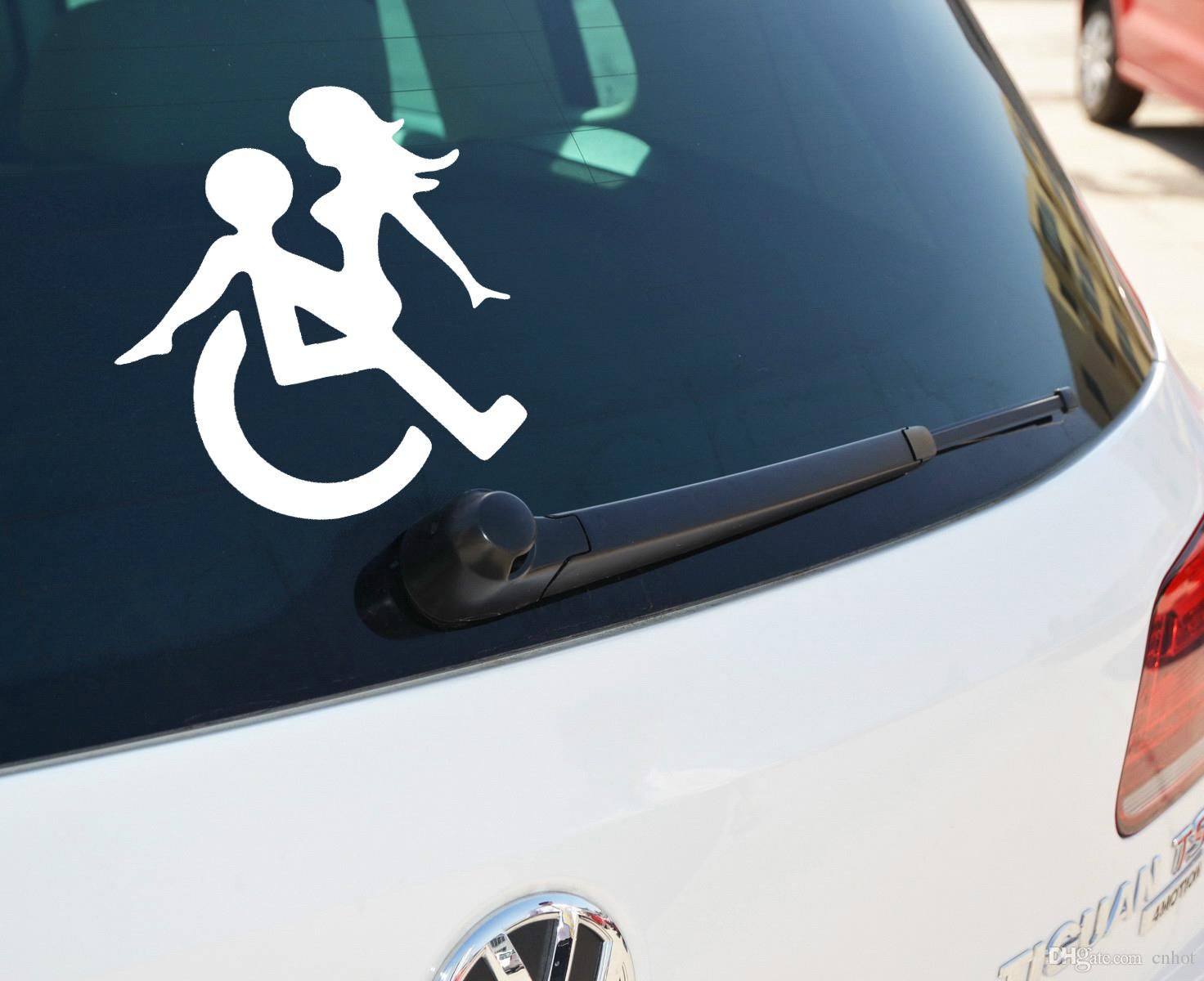 Car mirror sticker design - Wheelchair Sex Funny Decals Vinyl Stickers Suitable For Cars Bikes Boats Funny Decals Vinyl Stickers Online With 30 16 Piece On Cnhot S Store Dhgate Com
