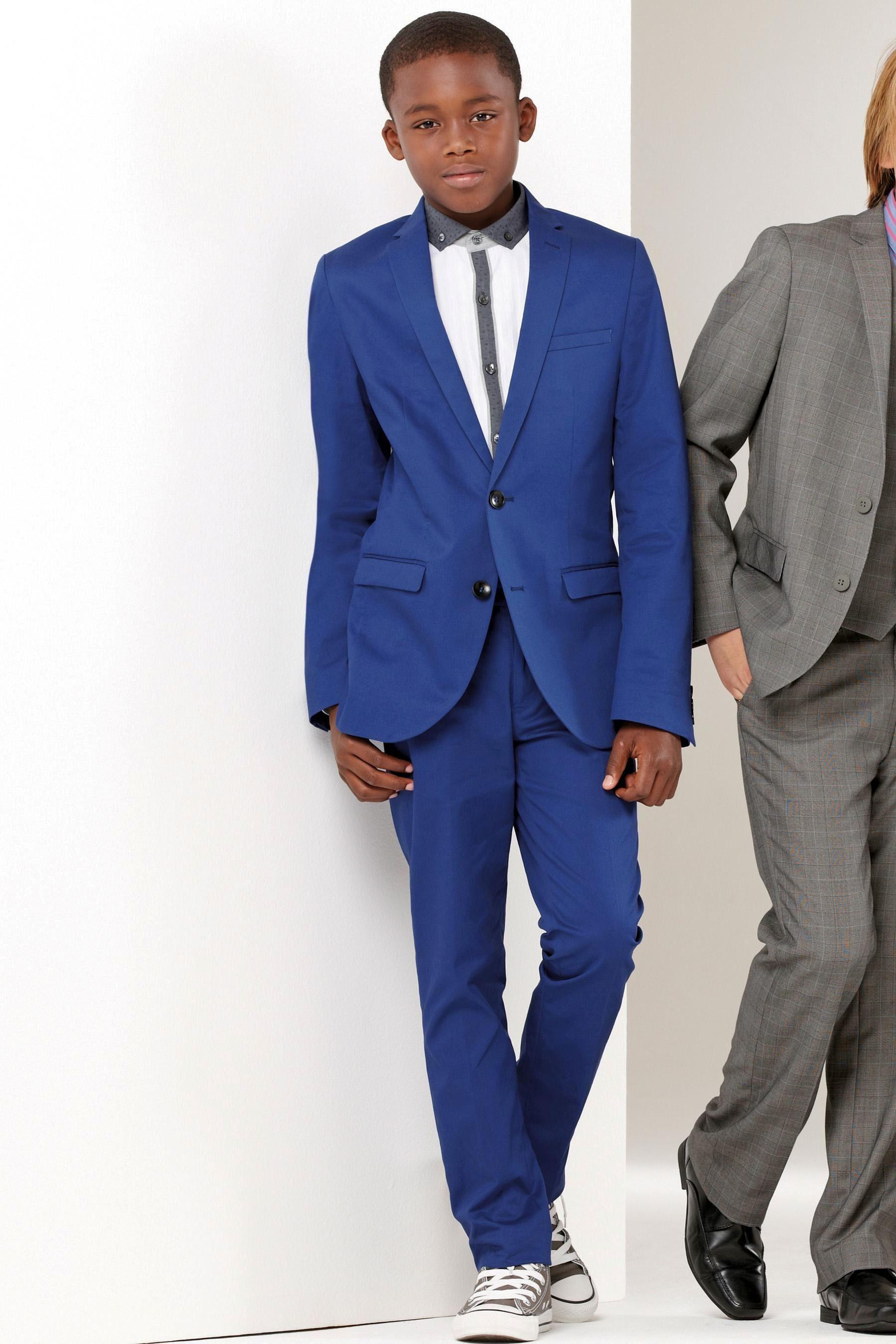 2015 Notch Lapel Two Buttons Royal Blue Boy Suits Boy Suits Boy'S ...